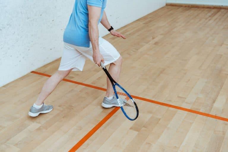 man squash spelen