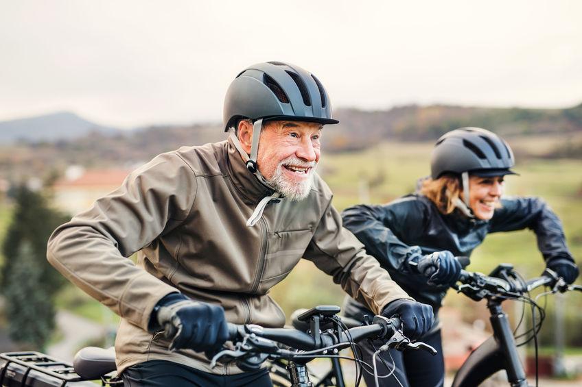 Senior volwassen fiets