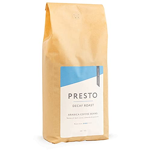 Presto Koffiebonen - cafeïnevrije koffie - Licht gebrande caffeïnevrije koffie hele bonen - (Koffiebonen 1KG)…