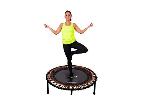 Fit Bounce Pro II Bungee-trampoline opvouwbaar komma stil en mooi geconstrueerd professionele oefen trampoline voor volwassenen   Inclusief fitness-dvd en online workouts plus opbergtas Gebruikersgewicht 150kgs