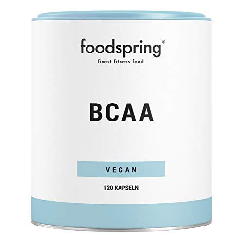 foodspring BCAA capsules, 120 stuks, Vegan premium BCAA's, essentiële aminozuren voor jouw spieren