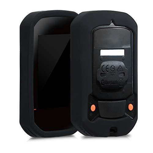 kwmobile hoes compatibel met Bryton Rider 420/320 - Siliconen beschermhoes voor fietsnavigatie - zwart