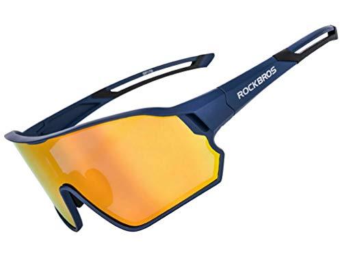 ROCKBROS Fietsbril Gepolariseerde Zonnebril Sportbril met UV400-bescherming TR90 Monturen Voor Buitensporten Fietsen Hardlopen Klimmen Vissen Golf