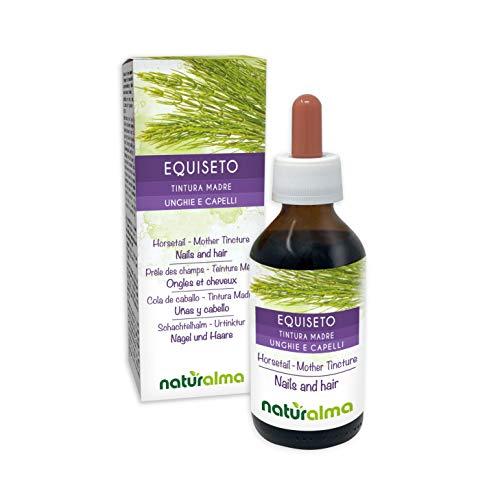 Heermoes (Equisetum arvense) kruid Alcoholvrije moedertinctuur Naturalma | Vloeibaar extract druppels 100 ml | Voedingssupplement | Veganistisch