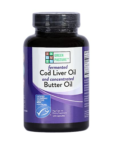 Green Pasture Blue Ice Royal Butter olie/Fermenteerde levertran - 120 capsules