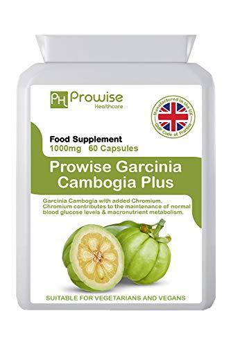 Garcinia Cambogia 1000 mg 60 capsules -UK Vervaardigd   GMP-standaarden van Prowise Healthcare - Geschikt voor vegetariërs en veganisten