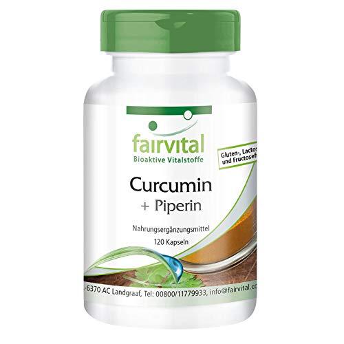 Curcuma capsules - Curcuma extract - HOOG GEDOSEERD - curcumine 95% met Bioperine (piperine) - 120 capsules