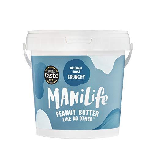 ManiLife Pindakaas - Geheel Natuurlijk, Enkele Herkomst, Geen Toegevoegde Suiker, Geen Palmolie - Original Roast Crunchy - (1 x 1kg)