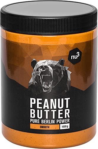 nu3 Peanut Butter 1 Kg pindakaas - puur natuurlijke pindakaas, veganistisch & geen suiker, geen toegevoegd zout, olie of palmvet, 28g eiwit per 100g, glutenvrij & veelzijdig bruikbaar