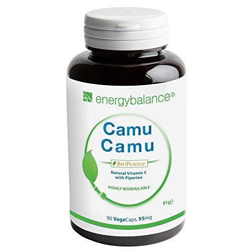 Camu Camu Zeer bio-beschikbaar Vitamine C + bioperine 95 mg, 90 Vegecaps