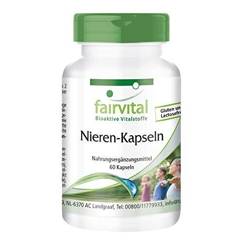 Nieren capsules - HOOG GEDOSEERD - VEGAN - 60 capsules - voedingssupplement voor de nier - met veenbessen, berendruif, paardenbloem en meer