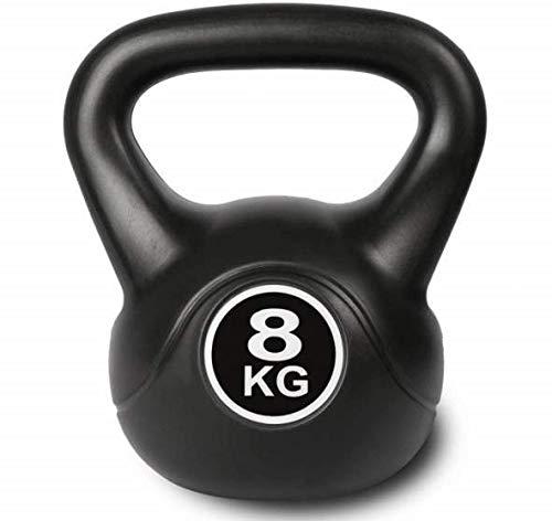 Kettlebell zwart kogelhalter voor krachttraining crossfit fitness (verkrijgbaar in 8 kg - 10 kg) (8 kg)