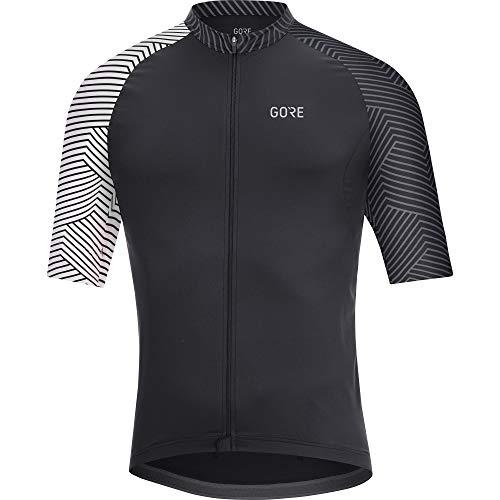 GORE WEAR Heren fietsshirt met korte mouwen, C5, Zwart/Wit, M