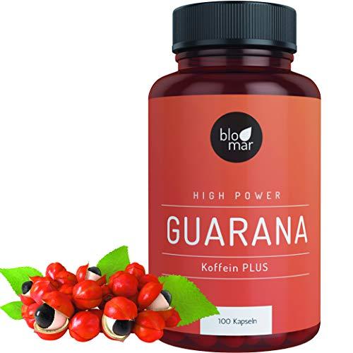 Guarana capsules cafeïne plus - krachtig en effectief - high power energizer tegen vermoeidheid - premium natuurlijke kwaliteit gemaakt in Duitsland - verpakking van 3 maanden