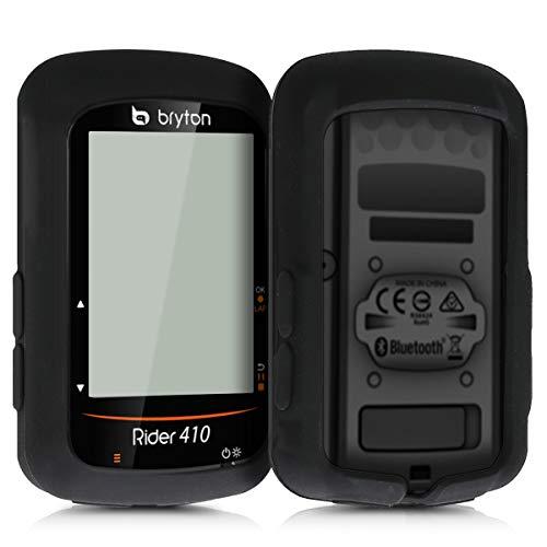 kwmobile hoes compatibel met Bryton Rider 410/450 - Siliconen beschermhoes voor fietsnavigatie - zwart