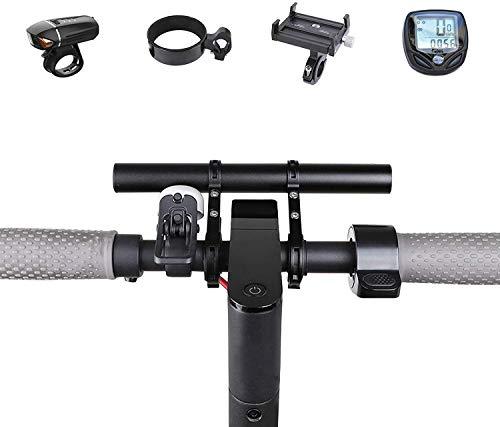 Fietsstuur Extender - Fietsuitbreidingsbeugel voor vasthoudlamp LED-licht GPS-telefoon Snelheidsmeter, lichtgewicht Duurzaam Aluminium Houder voor motorfiets Fietsaccessoires (Zwart-20cm)