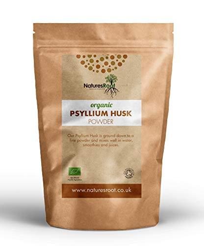 Nature's Root Organic Psyllium Husk Powder - Non-GMO   Natuurlijke bron van oplosbare vezels   Fijn gemalen in India   Hoge voedingswaarde   Hersluitbaar zakje (1kg)