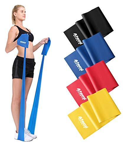Weerstandsband   1,2 of 2 Meter   Kies 1 van de 4 weerstandsniveaus   Gratis PDF trainingsgids Ideaal voor Fysiotherapie, Kracht, en Fitness Training (banden worden afzonderlijk verkocht) (#2 Rood (4,0 kg), 1,2m)