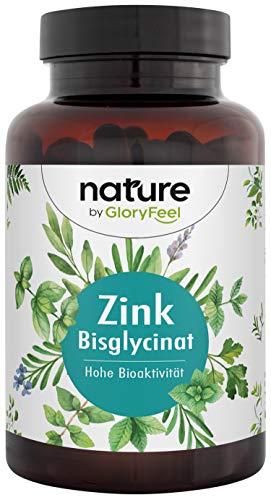 Zink 25mg Hoge dosis - 400 veganistische tabletten (13 maanden) - Premium Zink Bisglycinaat (Zink Chelate) zeer biobeschikbaar - 25mg Elementair Zink per tablet - Laboratorium geteste productie in Duitsland