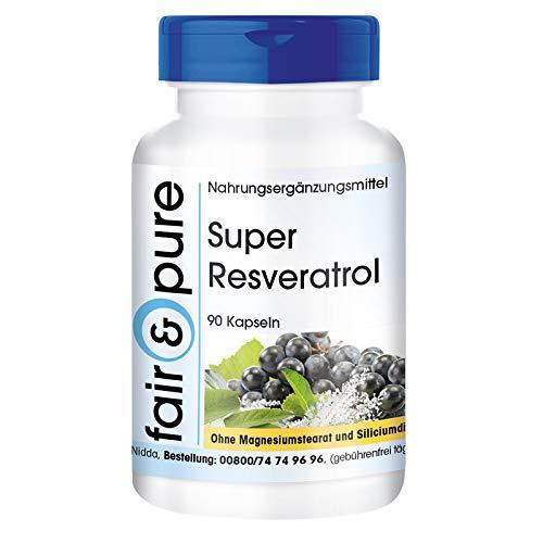 Super Resveratrol - natuurlijke resveratrol uit duizendknoop met bioflavonoïden - vegan - 90 capsules - zuivere stof