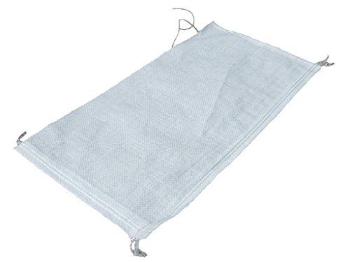 NOOR Zandzakken PP 20kg (40 x 60 cm) 10-pack in wit en als bescherming tegen overwater I stabiele zakken