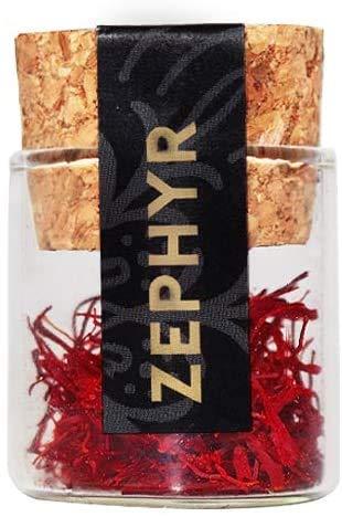 0.5g premium saffraan stampers, saffraandraadjes, in een herbruikbare glazen capsule