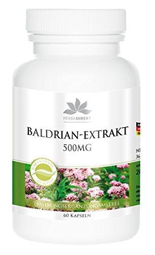 Valeriaancapsules - 500mg - 4-voudig geconcentreerd - 60 capsules - veganistisch