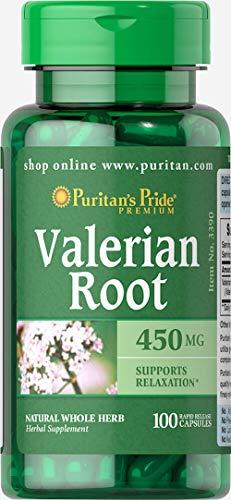 Puritan's Pride Valerian Root 450 mg 100 Capsules 3390