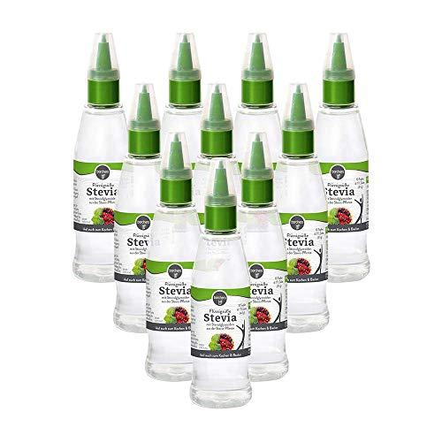 10 x borchers Stevia Flüssigsüße | Tafelsüße | Steviolglycoside | Für Getränke und Speisen | Alternative zu Zucker | 125 ml