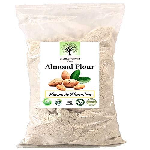 Amandelmeel 1 kg - Glutenvrij - Gebak en Macarons Ideaal dieet - Eerste kwaliteit - Fijn gemalen - 100% natuurlijk - Veganistisch