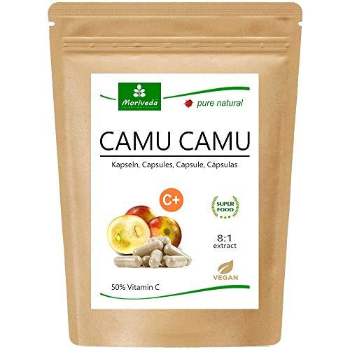 MoriVeda®   Camu Camu Capsules 8: 1 extract met 50% natuurlijke vitamine C (120 of 360 stuks) - veganistisch kwaliteitsproduct (1x120 Capsules)