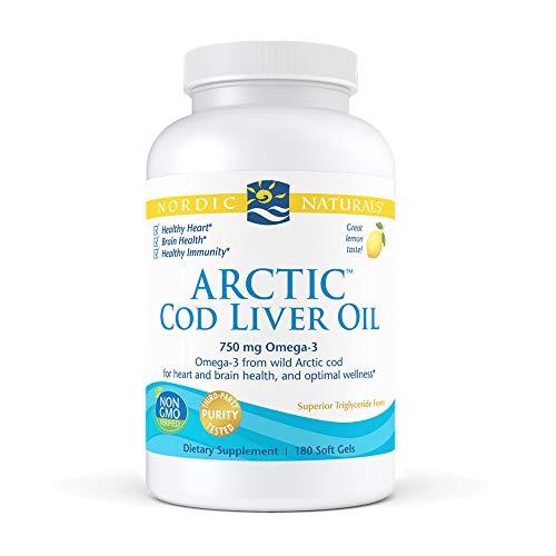 Nordic Naturals Arctic Cod Liver Oil Lemon 180 sgels