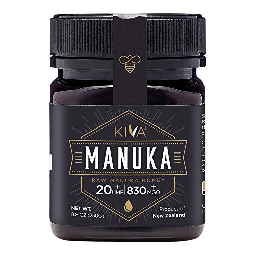 Kiva Raw Manuka Honing, UMF 20+ (MGO 850+) Gecertificeerd - Nieuw-Zeeland (250 gr.)