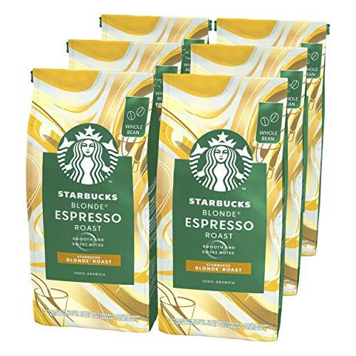 Starbucks Blonde Espresso Roast Blonde Roast Koffiebonen (6 zakken à 200g)
