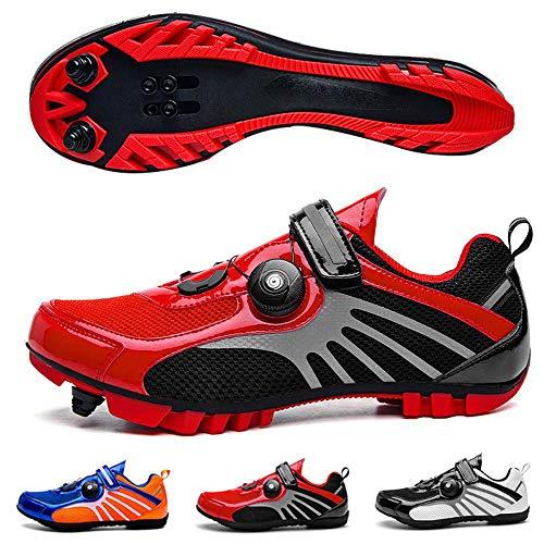 Arsui Racefietsschoenen - Premium uniseks fietsschoenen met antislip bodem en reflecterend ontwerp voor dames Mountainbike Schoenen MTB schoenen Fietsen Spin Schoen voor Heren
