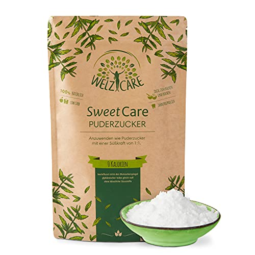 SweetCare PREMIUM poedersuiker - suikervervanger - 100% veganistisch - geen calorieën - low carb - met erythritol en stevia - Made in Germany - 250 g