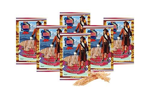 Pacific Cod Jerky - Sesamvacht (6 x 36 g verpakking) Natuurlijke snack Gedroogd en gezouten I Koolhydraatarm I Eiwitrijk I Fitness Snack I Gedroogde vis rijk aan Omega -3- I voor mannen en vrouwen