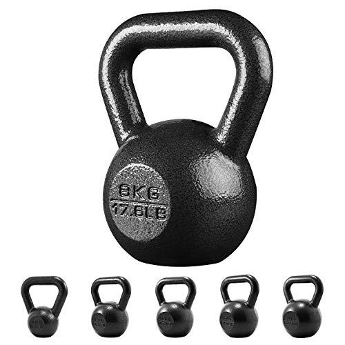 PROIRON Gietijzeren kettlebell Gewicht voor fitness- en gewichtstraining voor thuisgymnastiek (1 x 4kg)