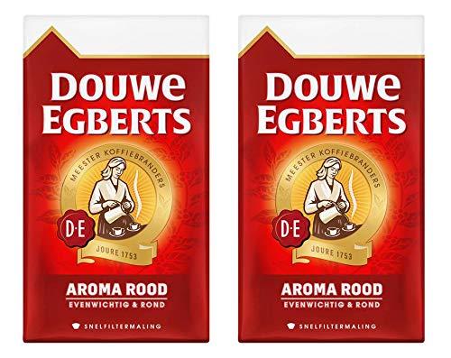 Gemalen koffie | Douwe Egberts | Aroma Rood filter Coffee | Totaal gewicht 1000 gram