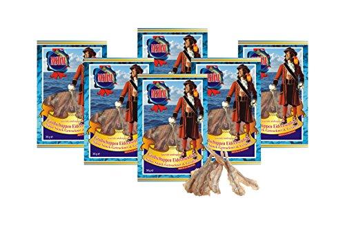 Saurida Undosquamis - (verpakking van 6 x 36g) Natuurlijke snack Gedroogd en zouten I Koolhydraatarm I Eiwitrijk I Fitness Snack I Gedroogde vis rijk aan Omega - 3-zonder toevoegingen I Voor mannen en vrouwen