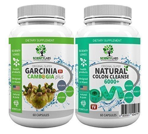 SUPERPACK! - Super Garcinia Cambogia + Detox colon cleanse 6000+. US origineel van ScientyLabs met purem! Garcinia Cambogia + actueel sterkste SL colon cleanser
