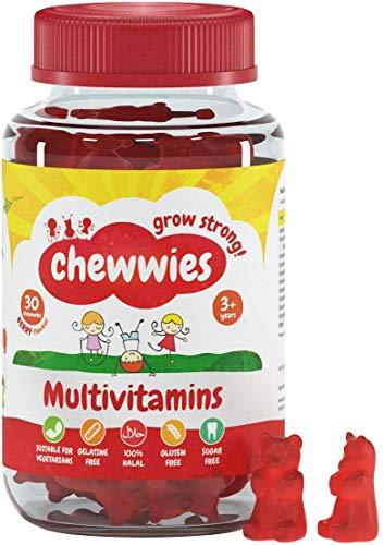 Multivitaminen - Kauwgummies - Vegetarisch, Veganistisch, Halal, Suikervrij en Glutenvrij, Niet-GMO - voor volwassenen en kinderen Verpakt met essentiële vitamines en micronutriënten door Chewwies Vitamins