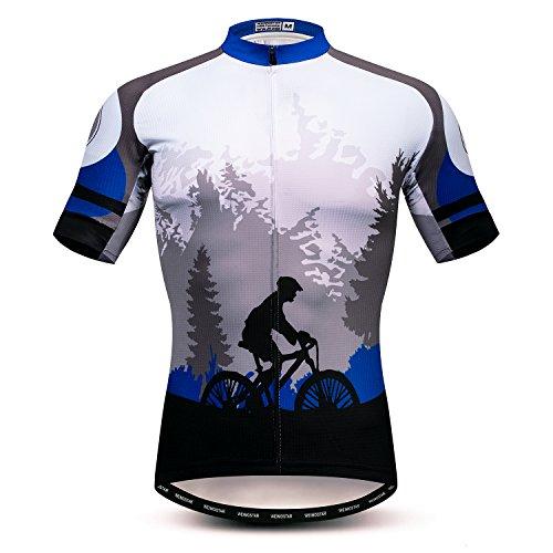 Weimostar Fietsshirt voor heren, MTB-shirt, ritssluiting, korte mouwen, biker tops, mountainbike, road, kleding, fietsshirt, jas, zomer, Pro Team Racefiets, jersey voor heren, ademend, maat XL