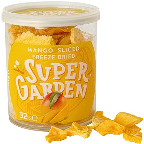 Super Garden gevriesdroogde mango - Gezonde snack - 100% puur en natuurlijk - Veganistisch - Zonder toegevoegde suiker, kunstmatige toevoegingen en conserveringsmiddelen - Glutenvrij - GGO-vrij