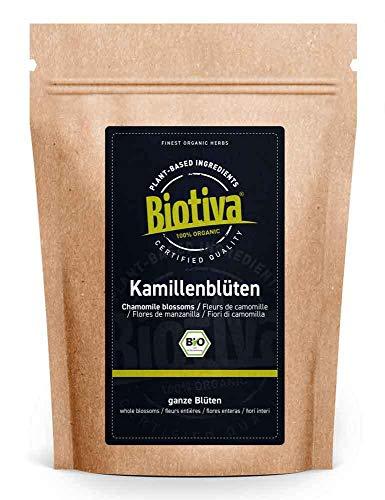 Kamille-bloemen Thee Bio 250 g - EU - teelt - hoogste kwaliteit biologische amillebloemen - kamillentee - gevuld en gecontroleerd in Duitsland (DE-ÖKO-005)