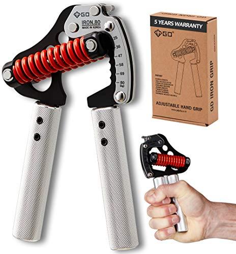 GD Handgreep Versterker, Iron Grip Licht. 80 Verstelbare Handgrijper (55 tot 150 lbs) Handgrepen voor sterkte, Polsversterkers Pols Training Workout