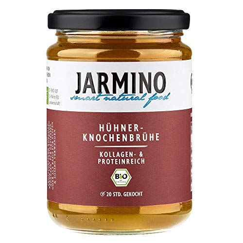 JARMINO Bone Broth (4x) | 100% biologische kip | rijk aan Collageen | Paleo & Ketogenic Diet geschikt | natuurlijk alternatief voor Collageen Drinken Ampullen