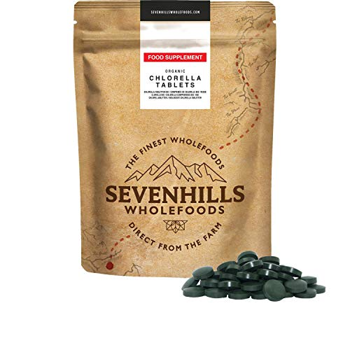 Sevenhills Wholefoods Bio Chlorella Gebroken Celwand 500mg Tabletten Pak van 2000, 1kg