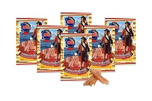 Pacific Cod Jerky - Gerookt (pak van 6 x 36 g) Natuurlijke snack Gedroogd en gezouten I Koolhydraatarm I Eiwitrijk I Fitness Snack I Gedroogde vis rijk aan Omega 3 I voor mannen en vrouwen