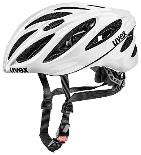 uvex boss race, Fietshelm Unisex-Volwassene, white, 52-56 cm